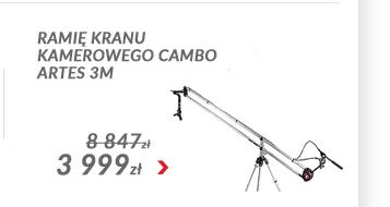 Ramię kranu kamerowego Cambo Artes 3m