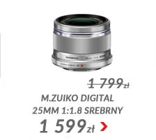 Obiektyw M.ZUIKO DIGITAL 25mm 1:1.8 srebrny